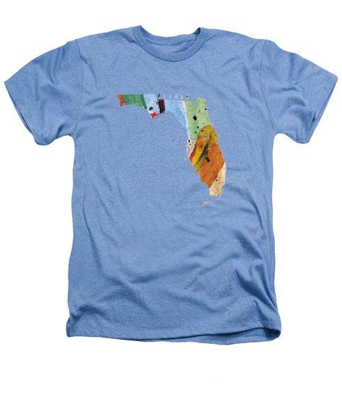 Florida Map Art - Painted Map Of Florida Heathers T-Shirt