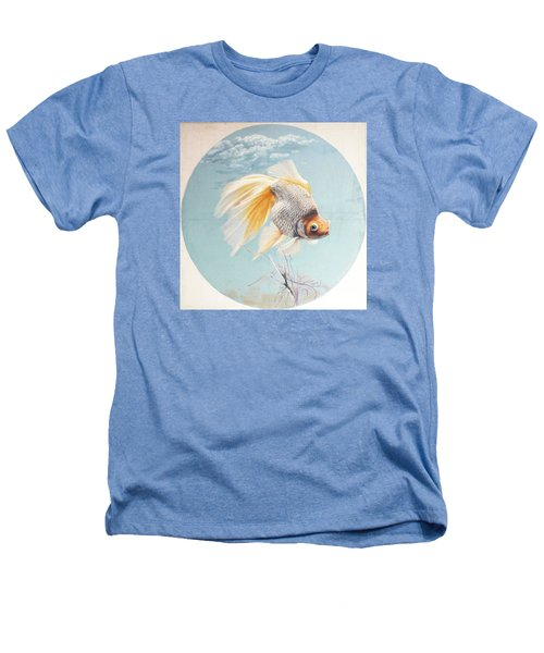 Flying In The Clouds Of Goldfish Heathers T-Shirt by Chen Baoyi