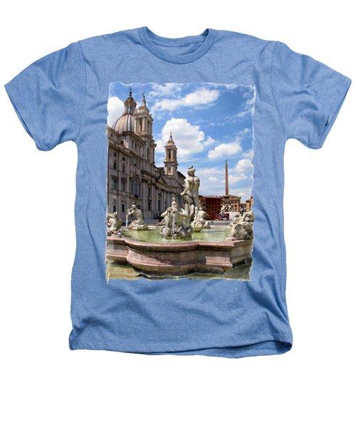 Fontana Del Moro.rome Heathers T-Shirt by Jennie Breeze