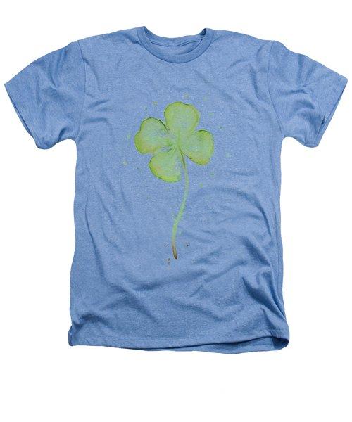 Four Leaf Clover Lucky Charm Heathers T-Shirt by Olga Shvartsur