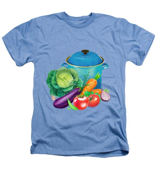 Fresh Vegetable Bounty Heathers T-Shirt by Little Bunny Sunshine