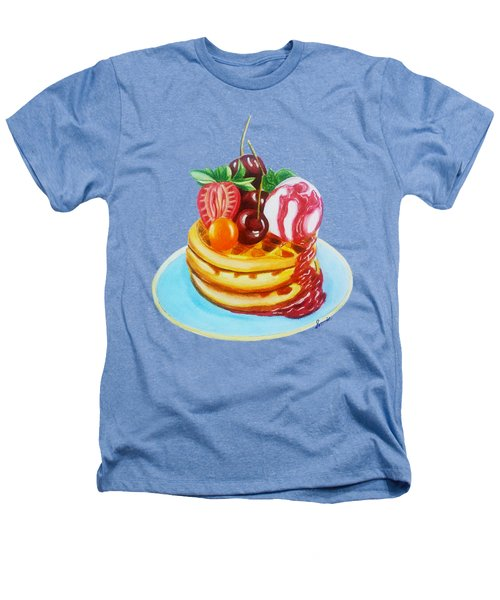 Fruity Waffles Served With Ice Cream And Strawberry Sauce Heathers T-Shirt by Sonja Taljaard