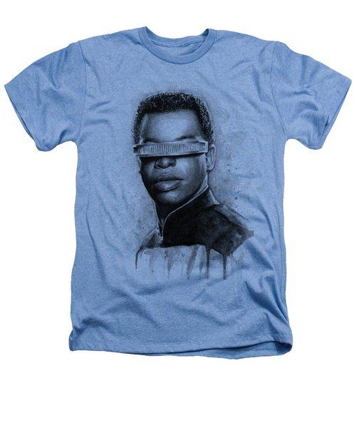 Geordi La Forge - Star Trek Art Heathers T-Shirt by Olga Shvartsur