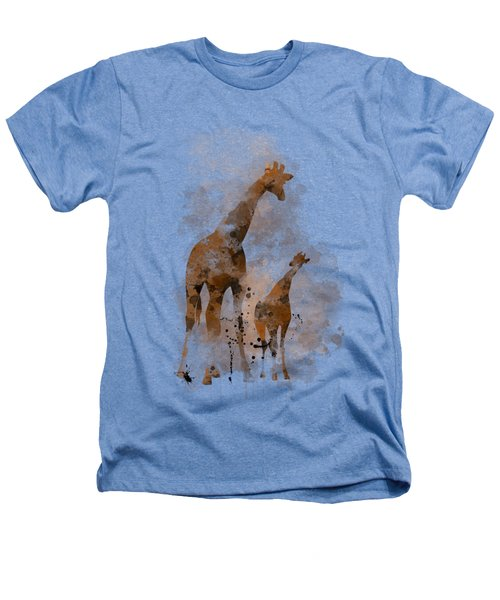 Giraffe And Baby Heathers T-Shirt by Marlene Watson