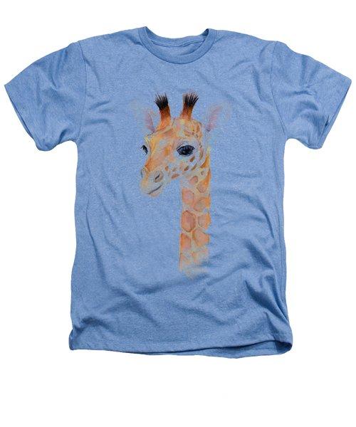 Giraffe Watercolor Heathers T-Shirt