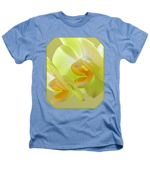 Glowing Orchid - Lemon And Lime Heathers T-Shirt by Gill Billington