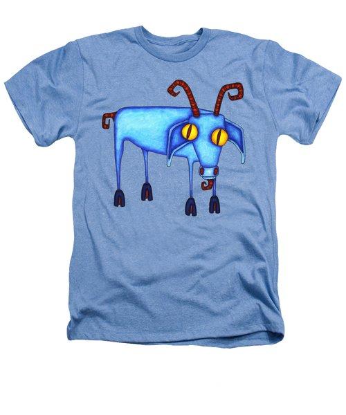 Goat Heathers T-Shirt by Joan Krygsman