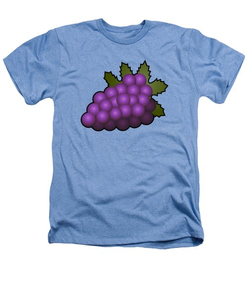 Grapes Fruit Outlined Heathers T-Shirt