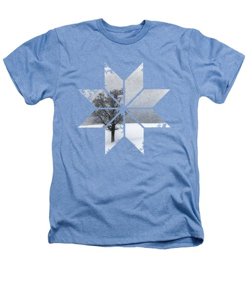Graphic Art Snowflake Lonely Tree Heathers T-Shirt by Melanie Viola
