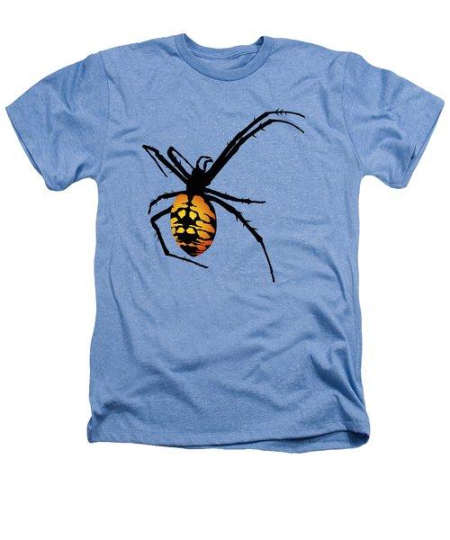 Graphic Spider Black And Yellow Orange Heathers T-Shirt