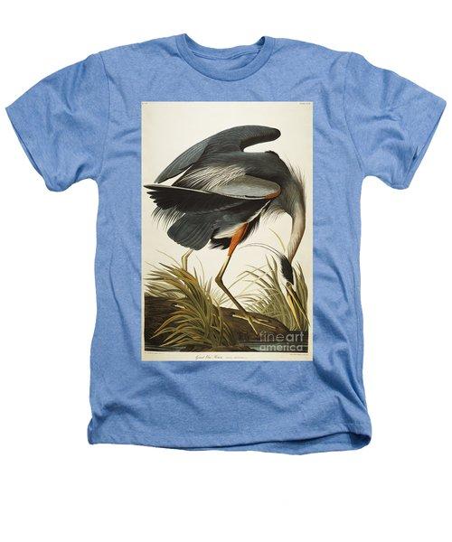 Great Blue Heron Heathers T-Shirt