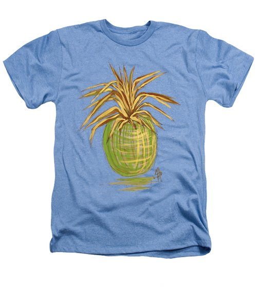 Green Gold Pineapple Painting Illustration Aroon Melane 2015 Collection By Madart Heathers T-Shirt by Megan Duncanson