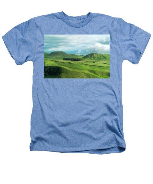 Green Hills On The Big Island Of Hawaii Heathers T-Shirt