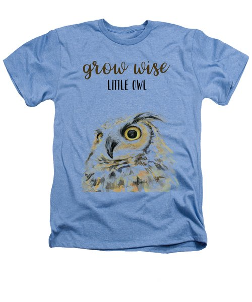 Grow Wise Little Owl Heathers T-Shirt