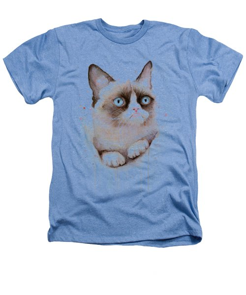 Grumpy Cat Watercolor Heathers T-Shirt