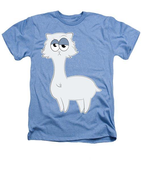 Grumpy Persian Cat Llama Heathers T-Shirt by Catifornia Shop
