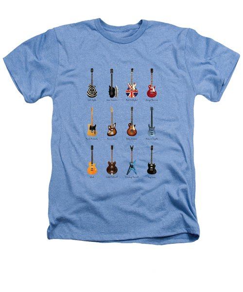 Guitar Icons No3 Heathers T-Shirt by Mark Rogan