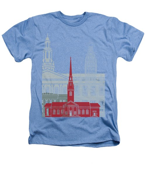 Harvard Skyline Poster Heathers T-Shirt