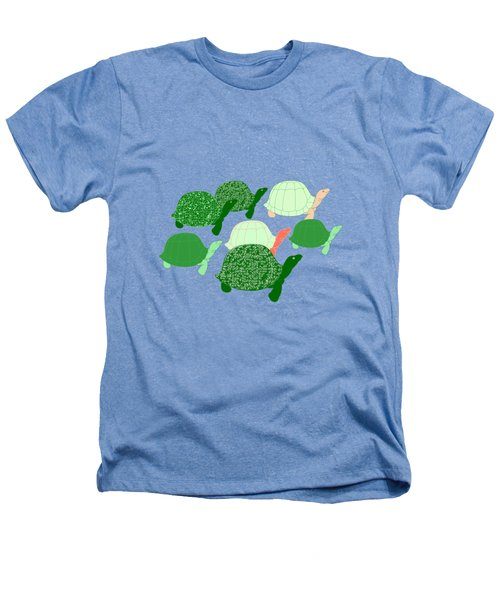 Herd Of Turtles Pattern Heathers T-Shirt by Methune Hively