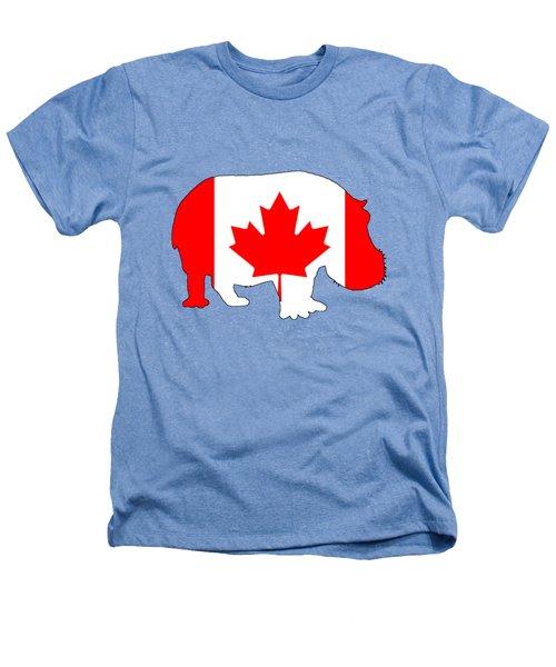 Hippopotamus Canada Heathers T-Shirt by Mordax Furittus