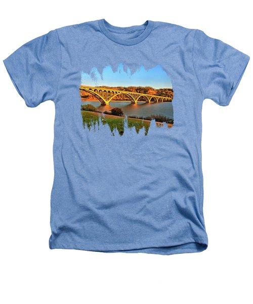 Historic Patterson Bridge Gold Beach Heathers T-Shirt by Thom Zehrfeld