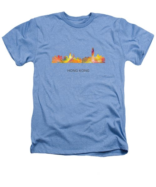 Hong Kong China Skyline Heathers T-Shirt by Marlene Watson