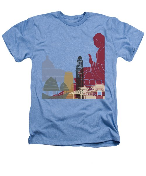 Hong Kong Skyline Poster Heathers T-Shirt by Pablo Romero