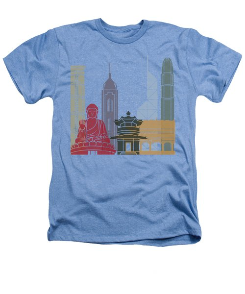 Hong Kong Skyline Poster_v2 Heathers T-Shirt by Pablo Romero