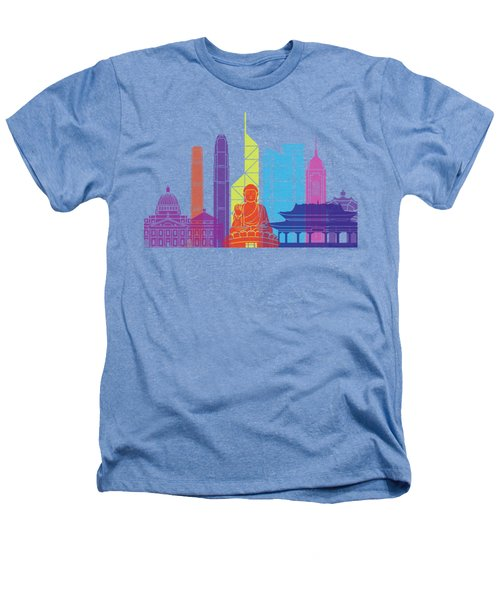 Hong Kong V2 Skyline Pop Heathers T-Shirt by Pablo Romero