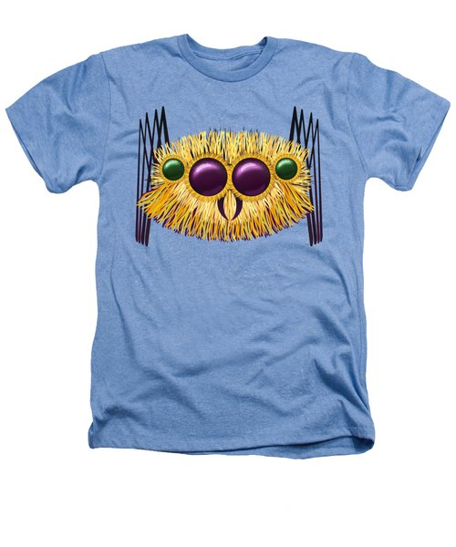 Huge Hairy Spider Heathers T-Shirt by Michal Boubin