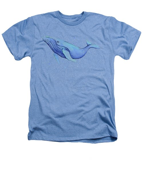 Humpback Whale Watercolor Heathers T-Shirt