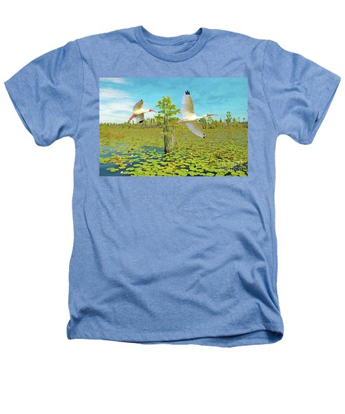 Ibis At Okefenokee Heathers T-Shirt
