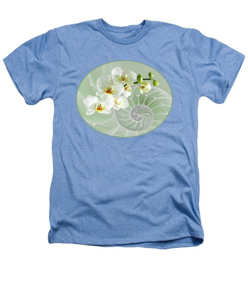 Intimate Fusion In Cool Green Heathers T-Shirt by Gill Billington