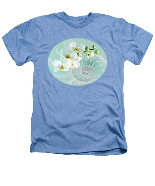 Intimate Fusion In Turquoise Heathers T-Shirt by Gill Billington