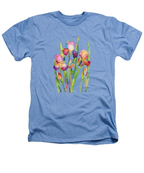 Iris Elegance Heathers T-Shirt by Hailey E Herrera