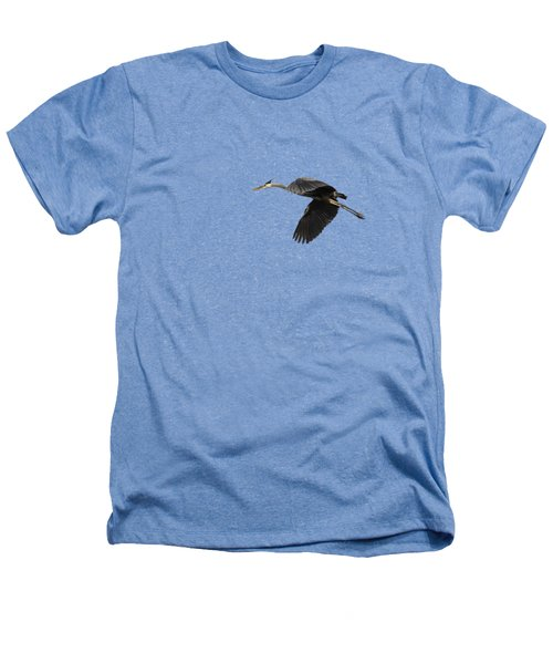 Isolated Great Blue Heron 2015-1 Heathers T-Shirt by Thomas Young