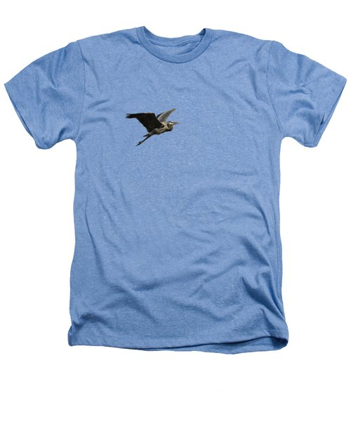 Isolated Great Blue Heron 2015-3 Heathers T-Shirt by Thomas Young
