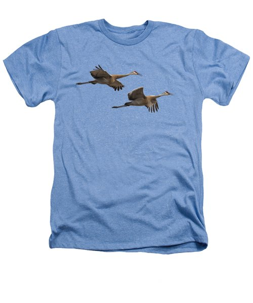 Isolated Sandhill Cranes 2016-1 Heathers T-Shirt by Thomas Young