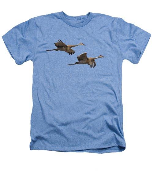 Isolated Sandhill Cranes 2016-1 Heathers T-Shirt