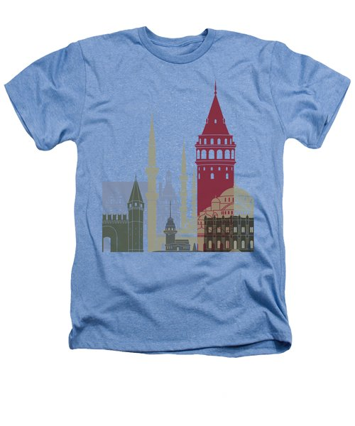 Istanbul Skyline Poster Heathers T-Shirt by Pablo Romero