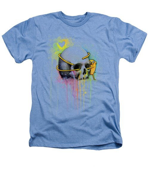 Jake The Dog Hugging Skull Adventure Time Art Heathers T-Shirt
