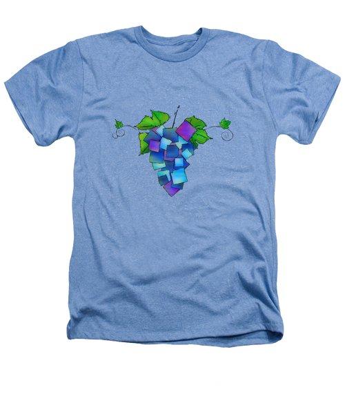 Jamurissa - Square Grapes Heathers T-Shirt by Cersatti