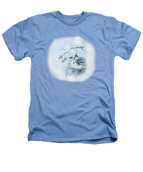 January Bluejay  Heathers T-Shirt by Susan Capuano