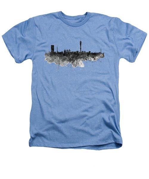 Johannesburg Black And White Skyline Heathers T-Shirt