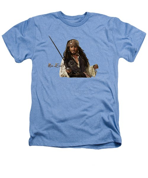 Johnny Depp, Pirates Of The Caribbean Heathers T-Shirt by Maria Astedt