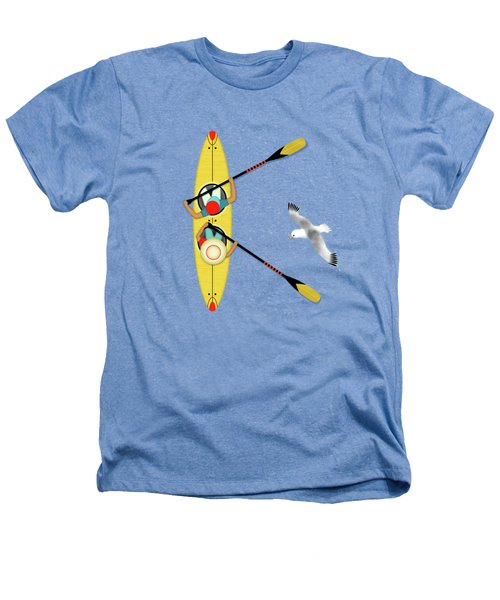 K Is For Kayak And Kittiwake Heathers T-Shirt by Valerie Drake Lesiak