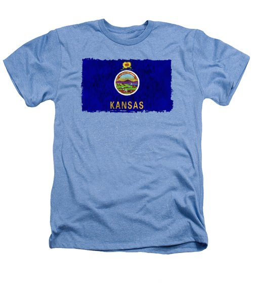 Kansas Flag Heathers T-Shirt by World Art Prints And Designs