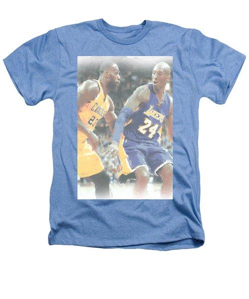 Kobe Bryant Lebron James 2 Heathers T-Shirt by Joe Hamilton