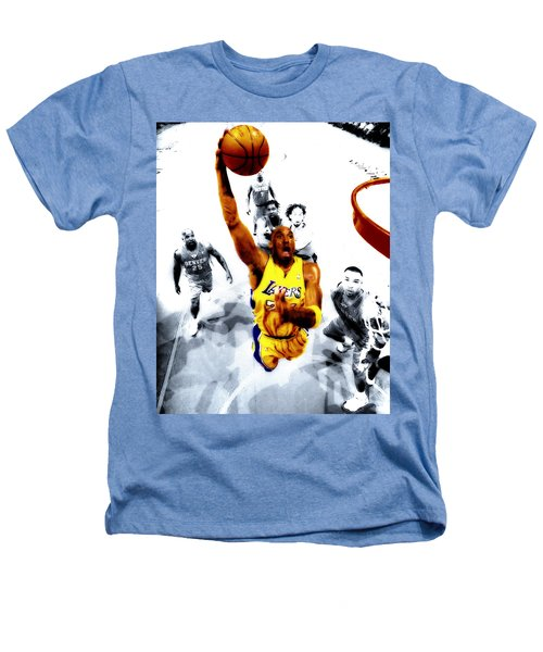 Kobe Bryant Took Flight Heathers T-Shirt by Brian Reaves