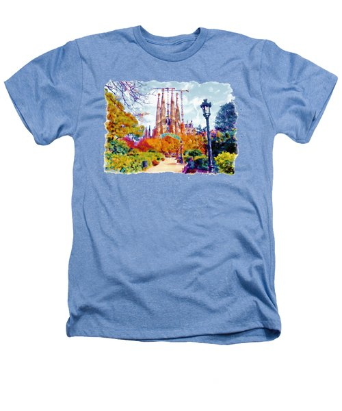 La Sagrada Familia - Park View Heathers T-Shirt by Marian Voicu